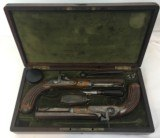 FINE CASED LARGE BORE OFFICERS OR DUELING PERCUSSION PISTOLS BY LEPAGE PARIS - 15 of 15