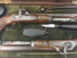 FINE CASED LARGE BORE OFFICERS OR DUELING PERCUSSION PISTOLS BY LEPAGE PARIS - 2 of 15