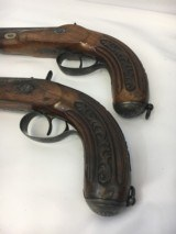 FINE CASED LARGE BORE OFFICERS OR DUELING PERCUSSION PISTOLS BY LEPAGE PARIS - 9 of 15