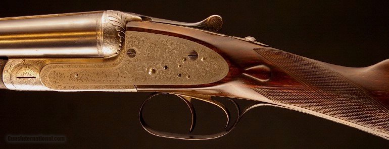 F. Beesley Side Lock Ejec 12 bore composed pair - 4 of 9