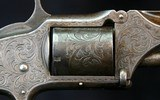 S&W No 1 1/2 revolver, Engraved and Dedicated - 9 of 14