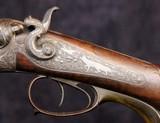 German Double Barrel Engraved Shotgun - 4 of 15