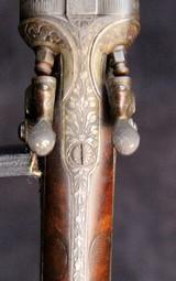 German Double Barrel Engraved Shotgun - 8 of 15