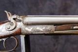 German Double Barrel Engraved Shotgun - 9 of 15