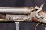 German Double Barrel Engraved Shotgun - 3 of 15