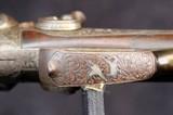 German Double Barrel Engraved Shotgun - 7 of 15