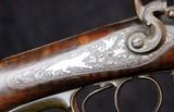 German Double Barrel Engraved Shotgun - 10 of 15