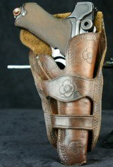 Two Loop Wester Style Holster for Luger