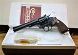 """Colt Trooper Mark III, 22 WMR (Mag), Box & papers,6"""", blue, appears unfired"""