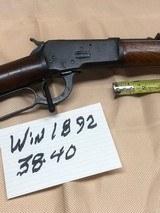 WINCHESTER 1892 RIFLR 38-40