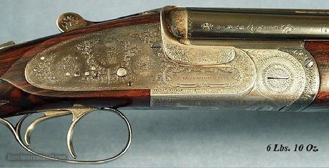 WOODWARD O & U SIDELOCK 12 BORE - MADE in 1933-STRAIGHT HAND - 5 of 6