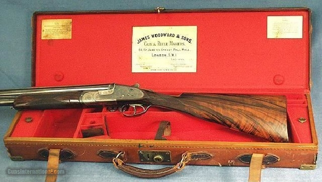 WOODWARD O & U SIDELOCK 12 BORE - MADE in 1933-STRAIGHT HAND - 1 of 6