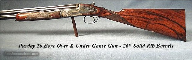 PURDEY OVER & UNDER 20 BORE - 1960 - 97% Orig.-STRAIGHT HAND - 1 of 6