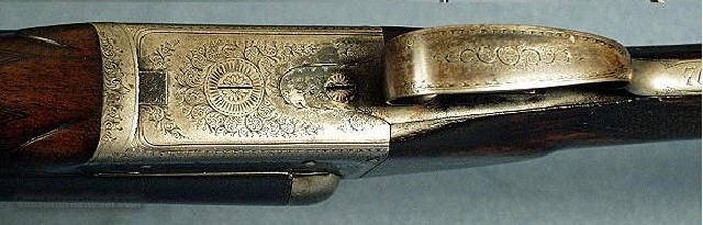 SCOTT, W&C-16 BORE NITRO PROVED DAMASCUS BOXLOCK