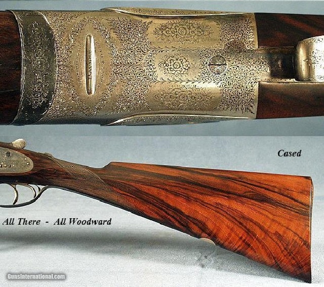 WOODWARD O & U SIDELOCK 12 BORE - MADE in 1933-STRAIGHT HAND - 5 of 5