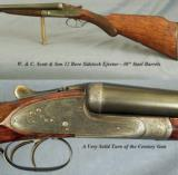 SCOTT, W&C 12 BORE- 30