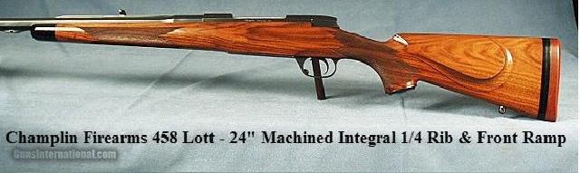 CHAMPLIN 458 LOTT-MACHINED INTEGRAL 1/4 RIB-FRONT RAMP-SLING - 1 of 5