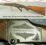 GRANT, STEPHEN 38 LONG COLT- WEBLEY 1902 FALLING BLOCK- BORE & CHAMBER as NEW- ONLY 6 Lbs. 8 Oz.