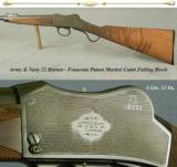 ARMY & NAVY 22 HORNET- FRANCOTTE PATENT SMALL CADET MARTINI ACTION- 4 Lbs. 13 Oz.- UNIQUE ENGRAVING- 1 of 5