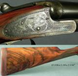 SCOTT, W & C- A 12 SIDELOCK EJECT- NEW BARRELS, STOCK & FOREND in ENGLAND- 28
