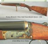 WESTLEY RICHARDS 12 GOLD NAME BOXLOCK EJECT- 1966- 28