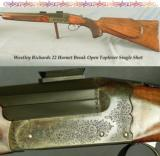WESTLEY RICHARDS 22 HORNET TOPLEVER SINGLE SHOT- 25