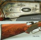 TURNBULL RESTORATION WIN MOD 1886 DELUXE RIFLE- 45-70- 35% ENGRAVING COVERAGE- NEW BARREL & ACCURATE