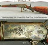 TURNBULL RESTORATION WIN MOD 1886 DELUXE RIFLE- 45-70- 35% ENGRAVING COVERAGE- NEW BARREL & ACCURATE- 1 of 5