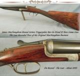 MacNAUGHTON 12 BORE ROUND ACTION TRIGGERPLATE BAR-IN-WOOD - THE LAST RECORDED GUN of THIS GREAT ERA - 1 of 9