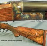 WESTLEY RICHARDS 577 N E- DROPLOCK- GOLD INLAYS by MASTER KEN HUNT- ACCURATE & AFRICAN PROVEN - 4 of 6