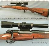 BREVEX MAG MAUSER by CHAMPLIN- 460 Wthby Mag.- A DIESEL TOUGH SERIOUS RIFLE- 4 INTEGRAL BARREL FEATURES- NICE - 1 of 5