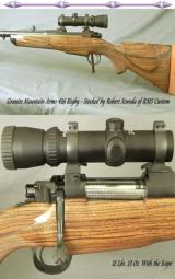 GRANITE Mtn. ARMS 416 RIGBY FULL CUSTOM Dbl SQUARE MAG GRANITE MAUSER- CLASSIC STOCK by ROB'T SZWEDA of RMS CUSTOM- INTEGRAL 1/4 RIB - 1 of 4
