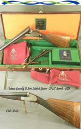 LEBEAU COURALLY 12 BORE MODEL ROYAL SIDELOCK EJECTOR - MADE in 1928 - 29 1/2