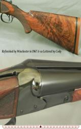 WINCHESTER MOD 21 TRAP GRADE- 12- COMPLETE REFINISH at WIN & LETTERED ACCORDINGLY- ORIG I.C. & I.M. CHOKES - 3 of 3