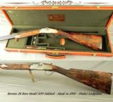 BERETTA SO9 SIDELOCK 28- VERY NICE GROUSE, BOBWHITE & WOODCOCK ENGRAVING- 5 Lbs. 8 Oz.- EXC WOOD - 1 of 5