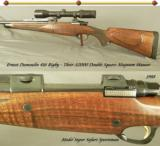 ERNEST DUMOULIN 416 RIGBY- THEIR DOUBLE SQUARE BRIDGE MAG MAUSER ACTION- CLAW MOUNTS- SWAROVSKI 1.5x6 - 1 of 5