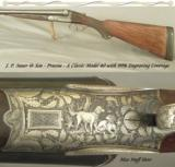 SAUER 12 from PRUSSIA- MODEL 40- 99% GAME SCENE ENGRAVING- 30