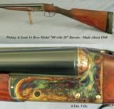 """WEBLEY & SCOTT 16 BORE- 28"""" EJECT Bbls.- 1968- OVERALL in 97% COND- 99% ORIG CASE COLORS- 6 Lbs. 5 Oz.- I.C. & I.M. - 1 of 3"""