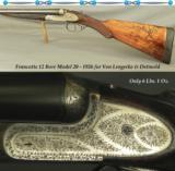 FRANCOTTE 12- 6 Lbs. 1 Oz.- MOD 20- 1926- V L & D IMPORT- 26