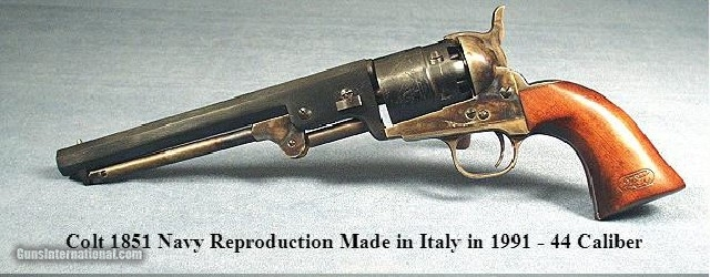 COLT 1851 NAVY REPRODUCTION 44 CALIBER-ITALY-UNFIRED & 98%- 1 of 2