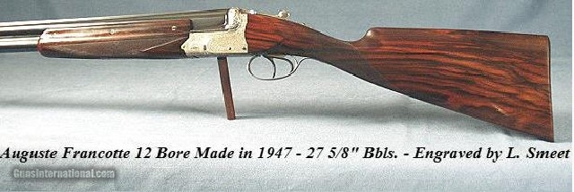 FRANCOTTE O/U 12- 1947- SMEET ENGRAVED- ORIG & VERY NICE- 27 5/8