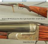 BELGIUM SxS 405 WIN- EXC PRE-WAR DOUBLE- EXC PLUS BORES- EXC WOOD- ONLY 6 Lbs. 11 Oz.- 25 5/8