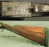 FN BELGIUM 12 SIDELOCK- 98% ENGRAVING with GROTESQUE GARGOYLES or DRAGONS- 1930- 30