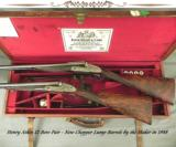 ATKIN 12SIDELOCK PAIR- NEW CHOPPER LUMP Bbls. in 1988 by the MAKER- NEW BUTTSTOCKS by the MAKER- ALL LONDON