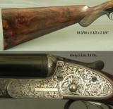 "LYON & LY0N 20 SIDELOCK EJECT- 99% COVERAGE of GRAPE VINE & LEAF ENGRAVING- 1973 BIRMINGHAM PROOF to BORES & 2 3/4"" CHAMBERS - 3 of 5"