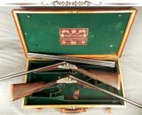 "JOSEPH LANG 12 SIDELOCK PAIR- VERY NICE 1913 PAIR- BUILT for C. LEDYARD BLAIR- #1 GUN with an EXTRA BARREL- ALL 28"" CHOPPER LUMP - 1 of 10"
