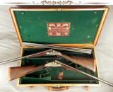 "JOSEPH LANG 12 SIDELOCK PAIR- VERY NICE 1913 PAIR- BUILT for C. LEDYARD BLAIR- #1 GUN with an EXTRA BARREL- ALL 28"" CHOPPER LUMP - 1 of 10"
