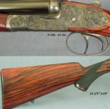 "MARCEL THYS 470 SIDELOCK EJECT- 98% FINE SCROLL- CASE COLORED FRAME- BOLSTERED FRAME- 15 1/4"" LOP- CASED O & L- OVERALL 97-98%