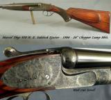 """MARCEL THYS 470 SIDELOCK EJECT- 98% FINE SCROLL- CASE COLORED FRAME- BOLSTERED FRAME- 15 1/4"""" LOP- CASED O & L- OVERALL 97-98% - 2 of 7"""