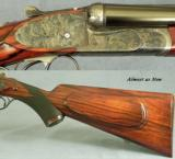 "MARCEL THYS 470 SIDELOCK EJECT- 98% FINE SCROLL- CASE COLORED FRAME- BOLSTERED FRAME- 15 1/4"" LOP- CASED O & L- OVERALL 97-98% - 6 of 7"